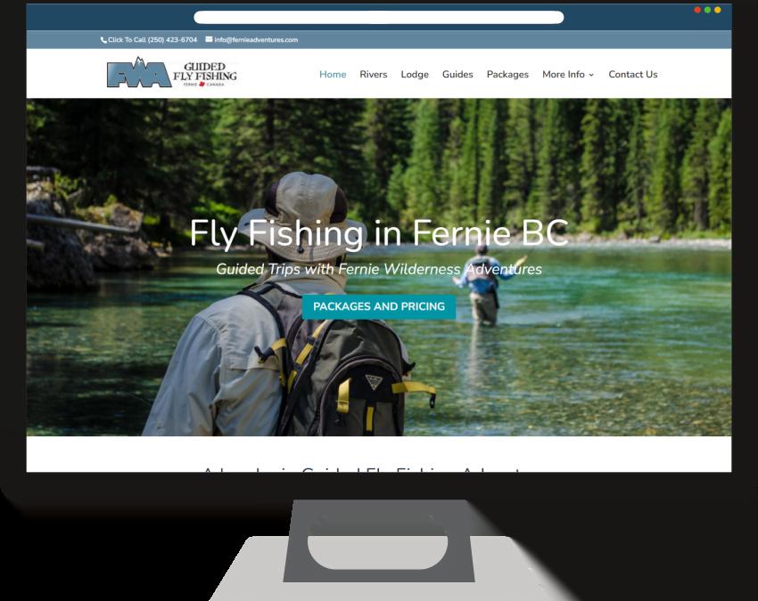 FWA Fly Fishing Web Design