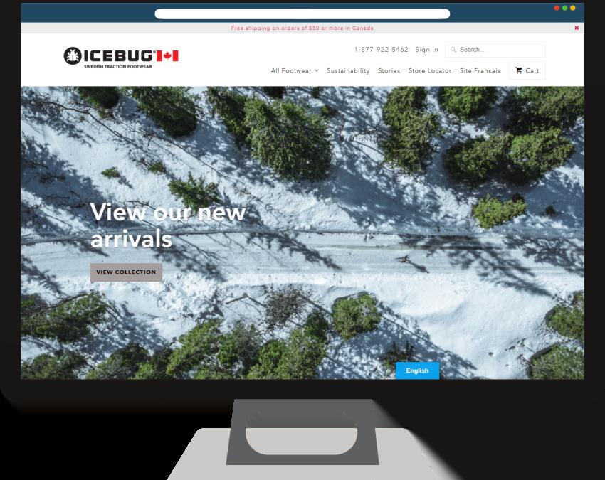 Icebug Canada Shopify Web Design