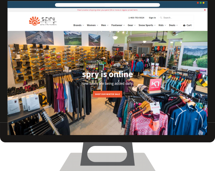 Spry Active Shopify Web Design