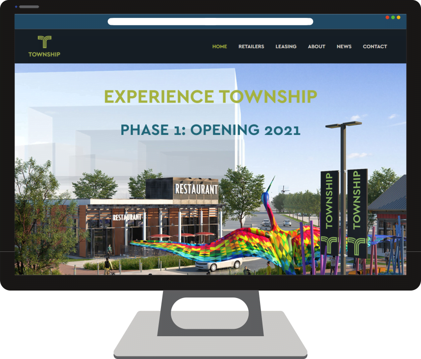 Township Shopping Center Web Design