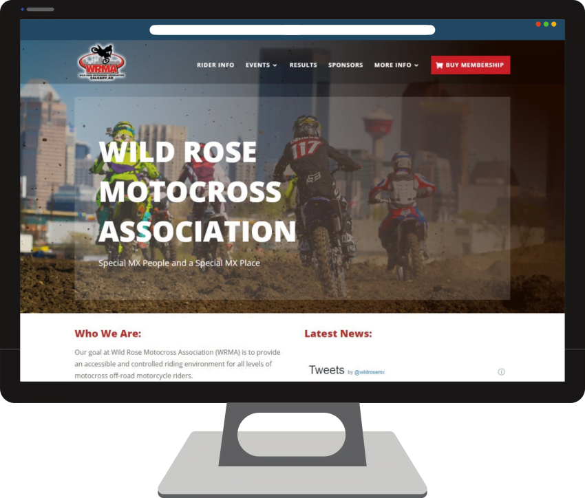Wild Rose Motocross Web Design
